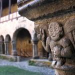 Ange de Lavaudieu, sous le cloitre du prieuré de l'Abbaye Saint-André
