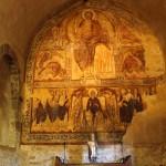 Fresque murale du réfectoire de l'abbaye d'influence Bizantine et copte