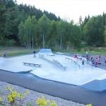 skatepark du chambon-sur-lignon, vue globale