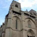 Façade occidentale de l'abbaye, style gothique Languedocien