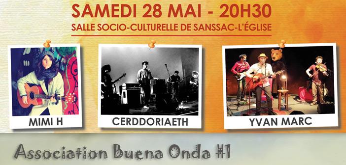 Concert Mimi H + CERDDORIAETH + Yvan Marc à Sanssac l'Église