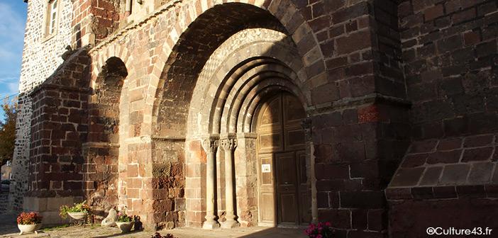 Façade romane abbatiale Saint-Chaffre