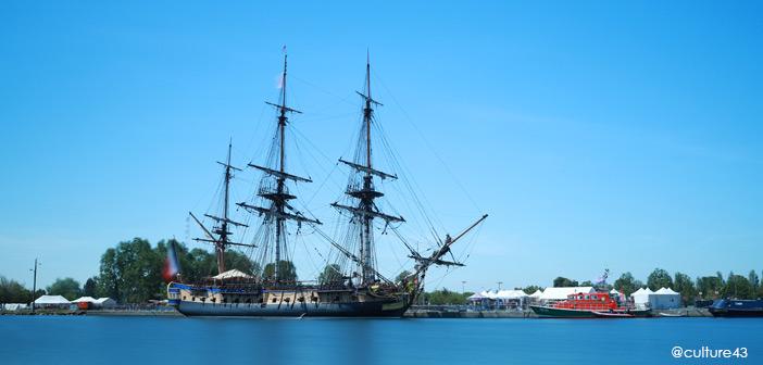 L'Hermione de Lafayette en route vers l'Armada de Rouen