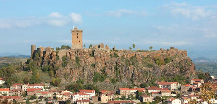 Forteresse de Polignac, près Le Puy-en-Velat, en Haute-Loire