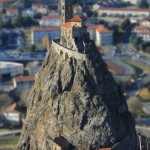 Rocher et Chapelle Saint-Michel d'Aiguilhe vus du rocher Corneille