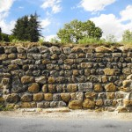 Elévation mur en pierres
