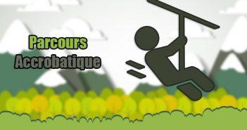 Parcours acrobatique en forêt en Haute-Loire